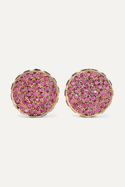 Ileana Makri Lunar Cycle 18-karat rose gold, ruby and amethyst earrings