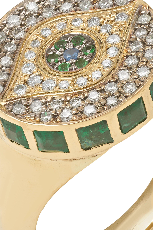 Ileana Makri Dawn Candy Chevalier 18-karat gold multi-stone ring