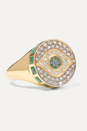 Ileana Makri Bague en or 18 carats et pierres multiples Dawn Candy Chevalier