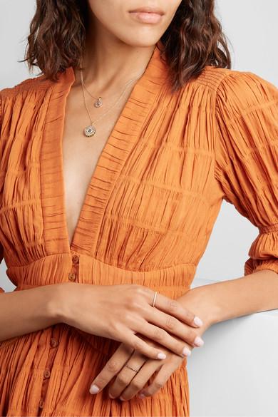 Classic Cross 18-karat rose gold sapphire necklace