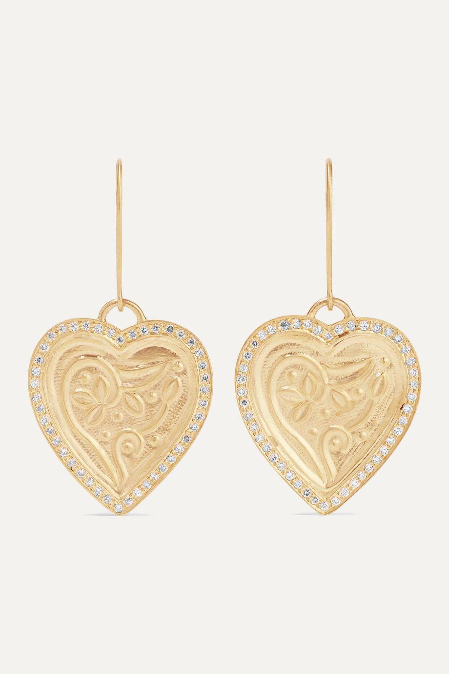 Ileana Makri Heart Beat Ohrringe aus 18 und 22 Karat Gold