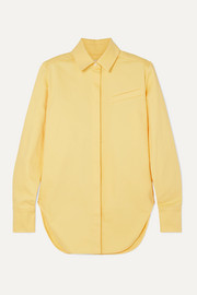 Aleksandre Akhalkatsishvili Oversized cotton-twill shirt