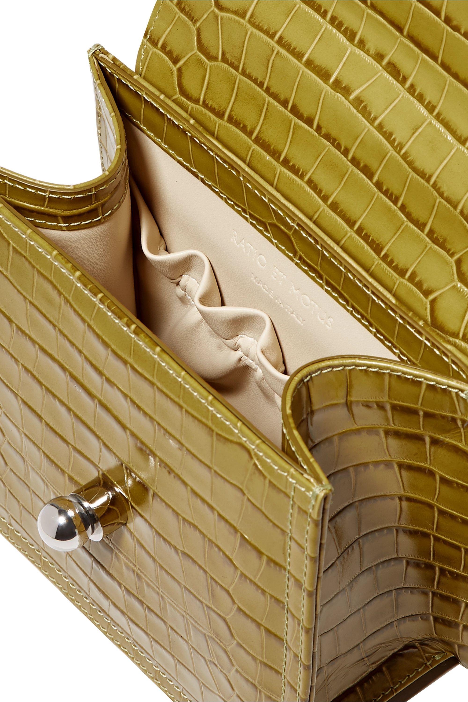 Ratio et Motus Lady croc-effect leather tote
