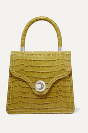 Lady croc-effect leather tote