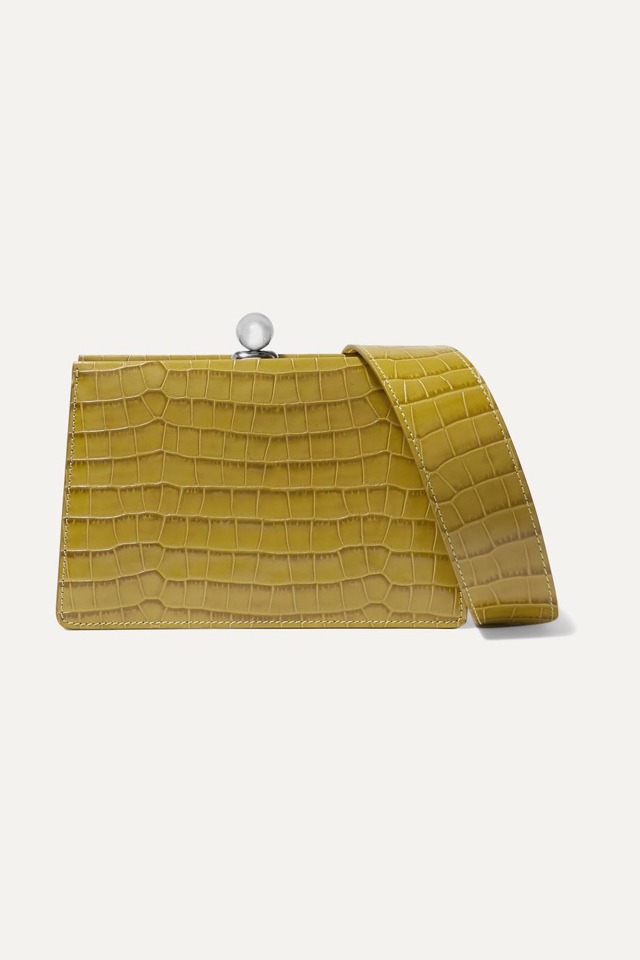 Ratio et Motus Mini Twin croc-effect leather shoulder bag