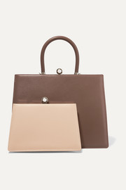 Twin Frame two-tone leather tote
