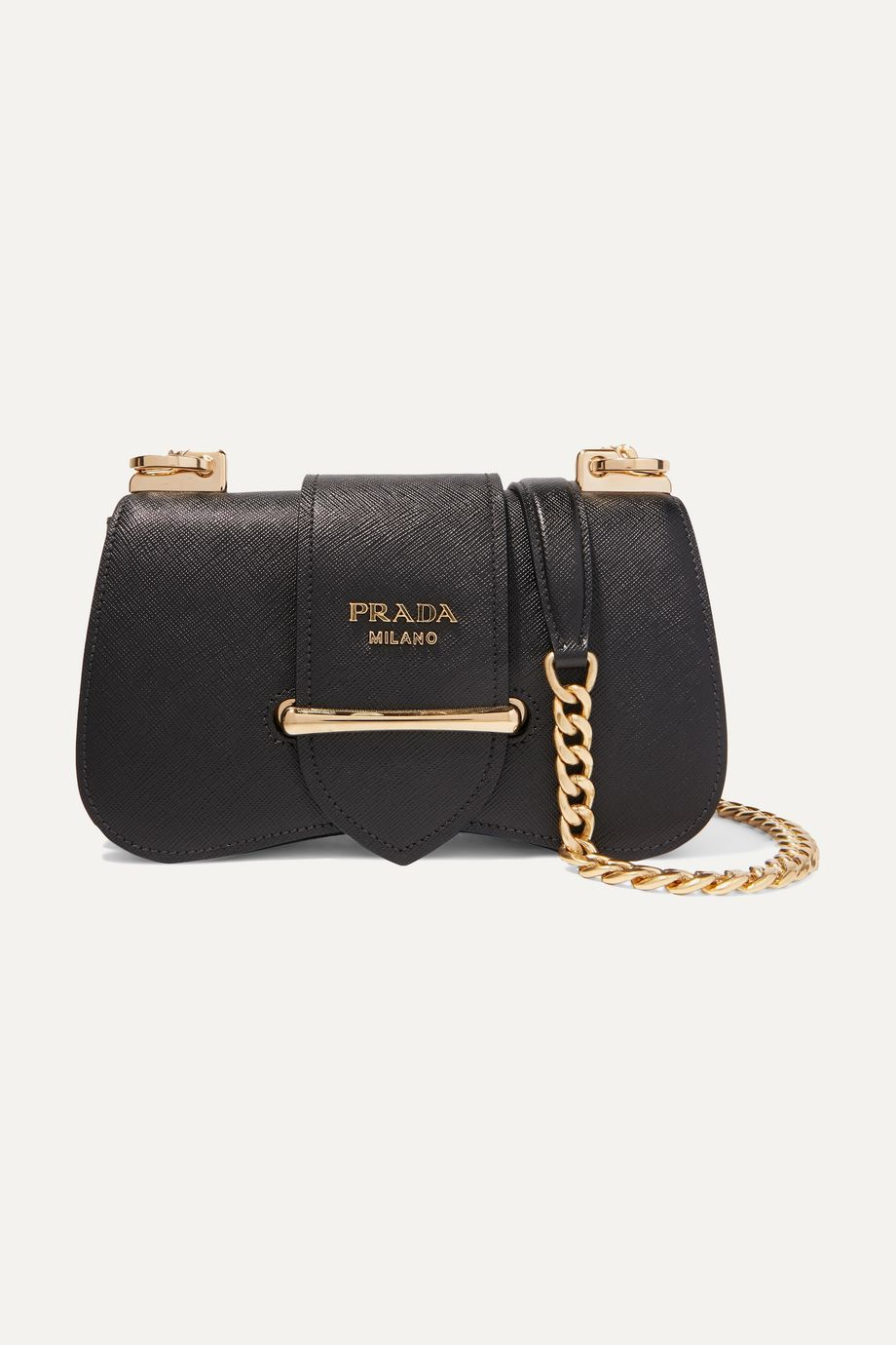 Prada Sidonie textured-leather shoulder bag