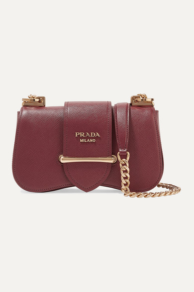 Sidonie small textured-leather shoulder bag