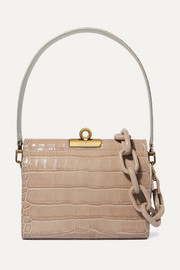 Gemma croc-effect leather tote
