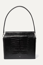 Duet croc-effect leather tote