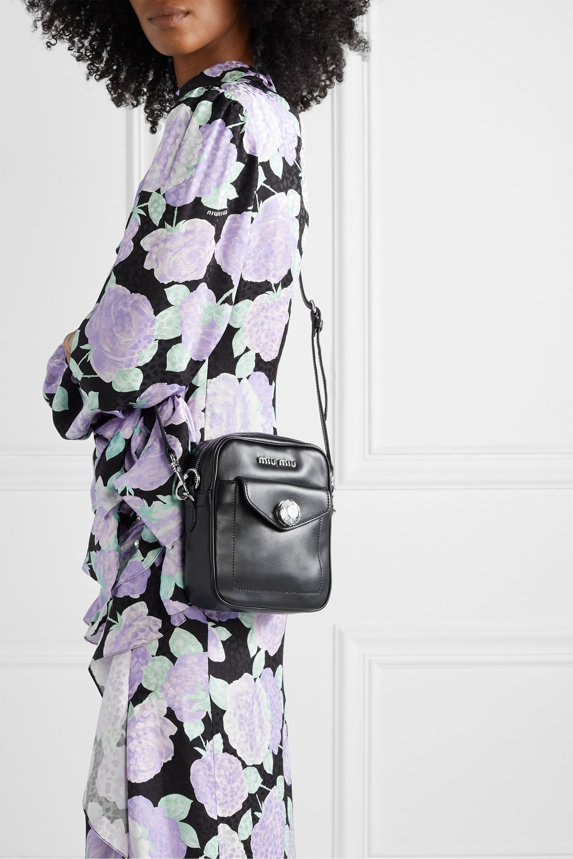 Miu Miu Solitaire crystal-embellished leather camera bag