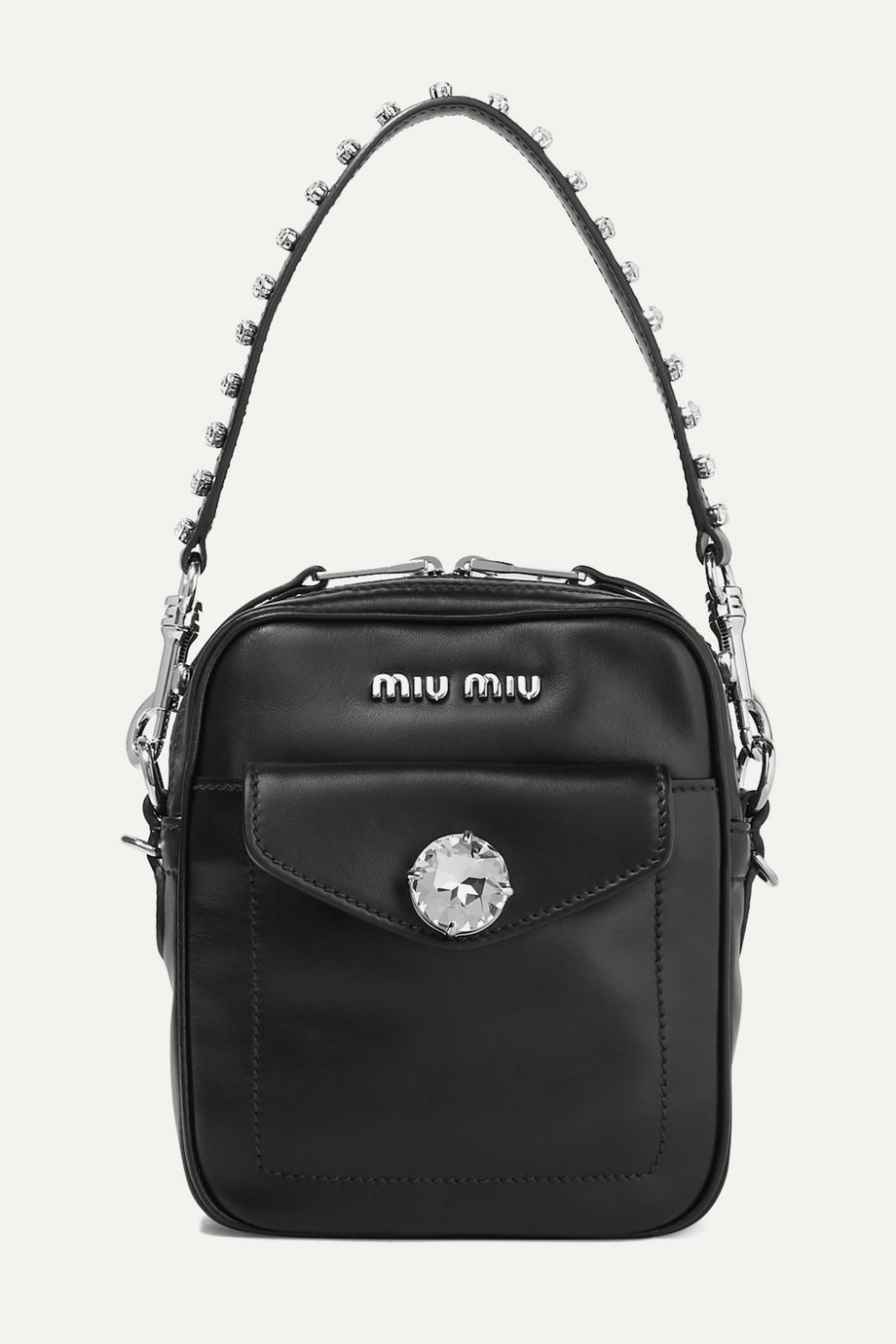Miu Miu Solitaire crystal-embellished leather camera bag