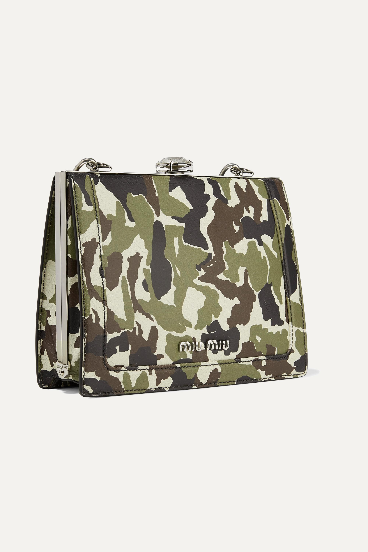 Miu Miu Solitaire camouflage-print textured-leather shoulder bag