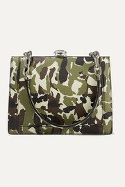 Miu Miu Solitaire camouflage-print textured-leather shoulder bag