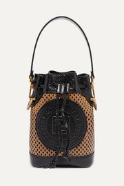 Mon Trésor mini laser-cut leather bucket bag