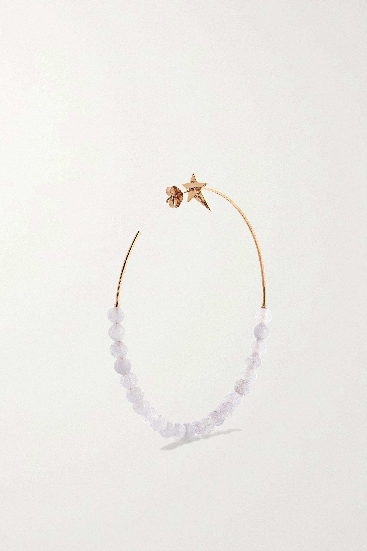 Diane Kordas Star 18-karat rose gold, quartz and diamond hoop earrings