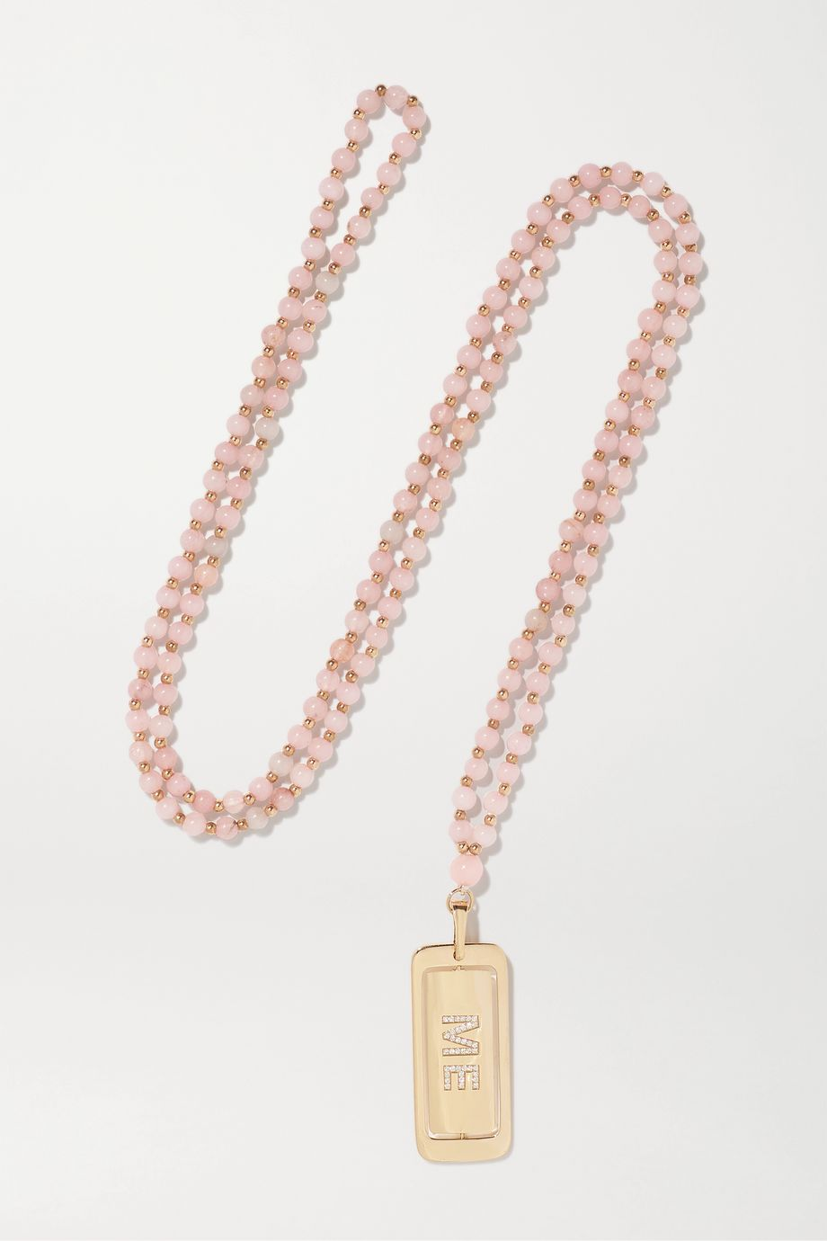 Diane Kordas Kiss Me 18-karat rose gold, diamond and kunzite necklace
