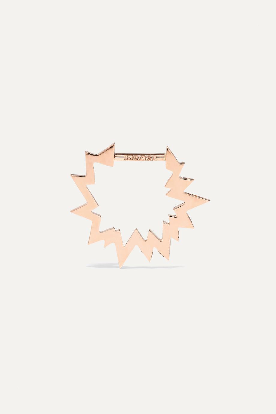 Diane Kordas Pop Art 18K 玫瑰金钻石单只耳环
