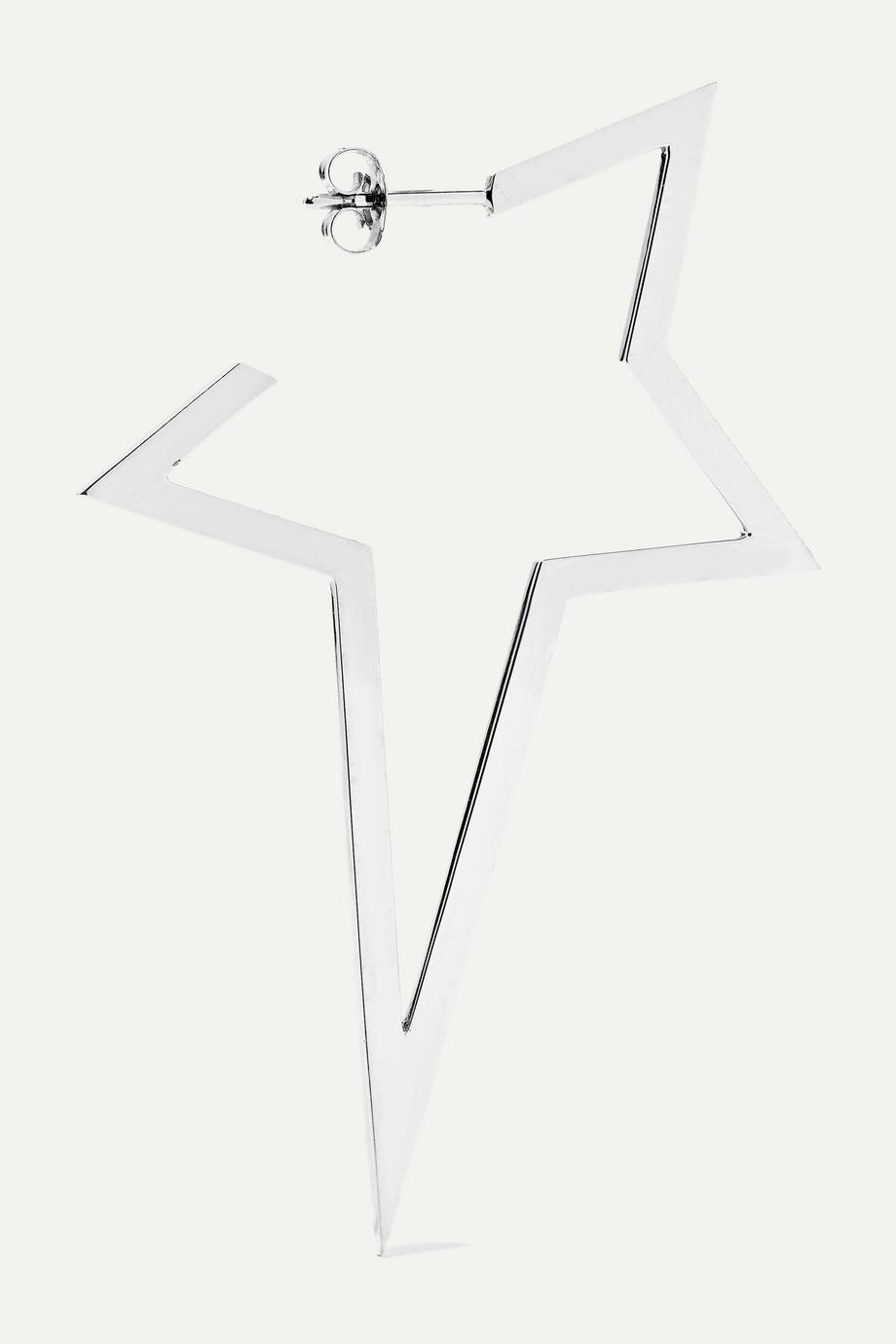 Diane Kordas Large Star 18-karat white gold diamond earring