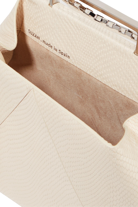 Maison Etnad Suzan 仿蜥蜴纹皮革单肩包