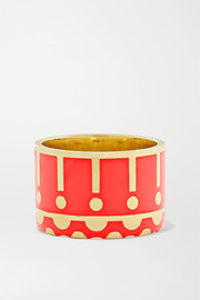 Alice Cicolini Memphis 14-karat gold and enamel ring