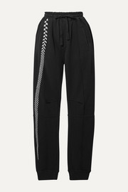 Haider Ackermann Embroidered cotton-jersey track pants