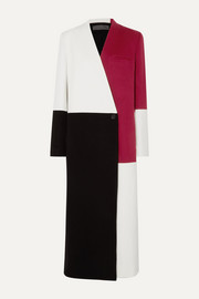 Haider Ackermann Color-block wool and cashmere-blend coat