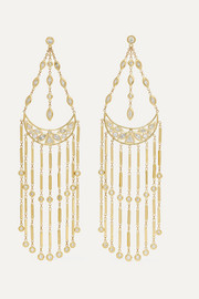 Jacquie Aiche Dia Shower Bar Ohrringe aus 14 Karat Gold mit Diamanten