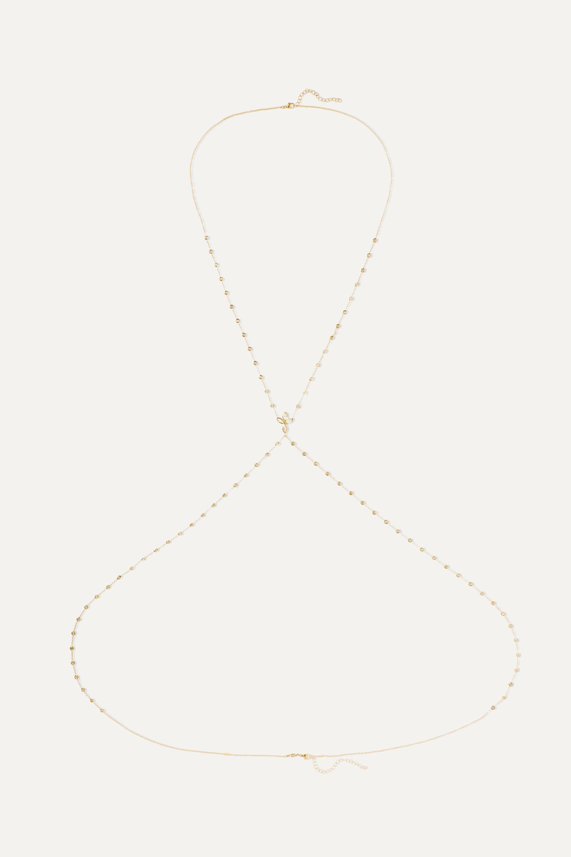 Jacquie Aiche Lotus 14-karat gold diamond body chain