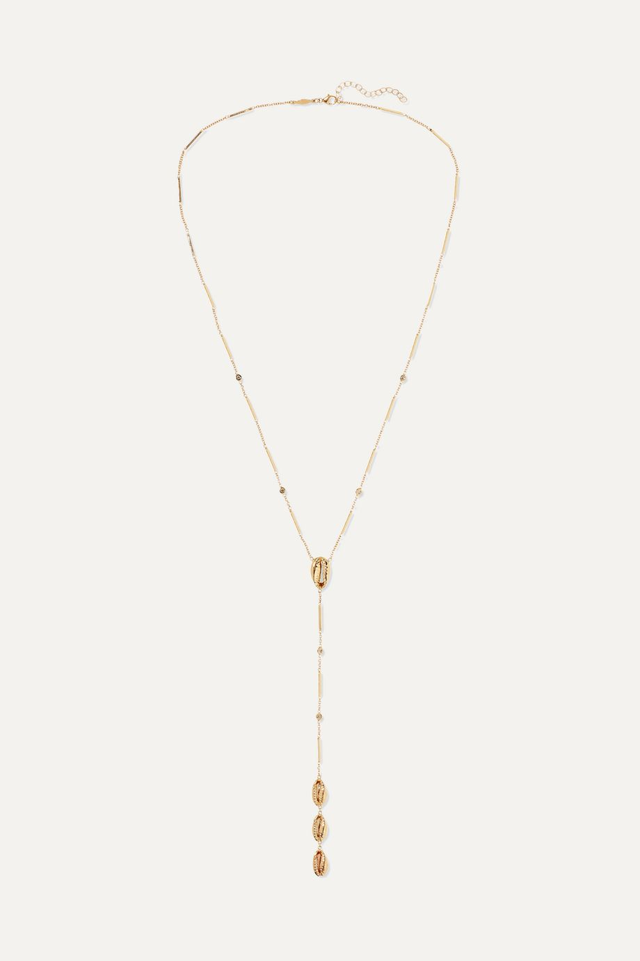 Jacquie Aiche 14-karat gold diamond necklace
