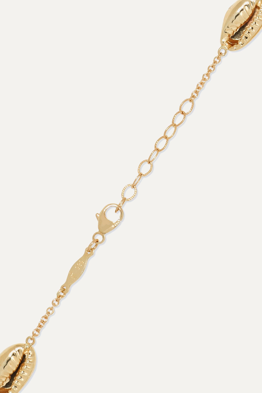 Jacquie Aiche 14-karat gold diamond anklet