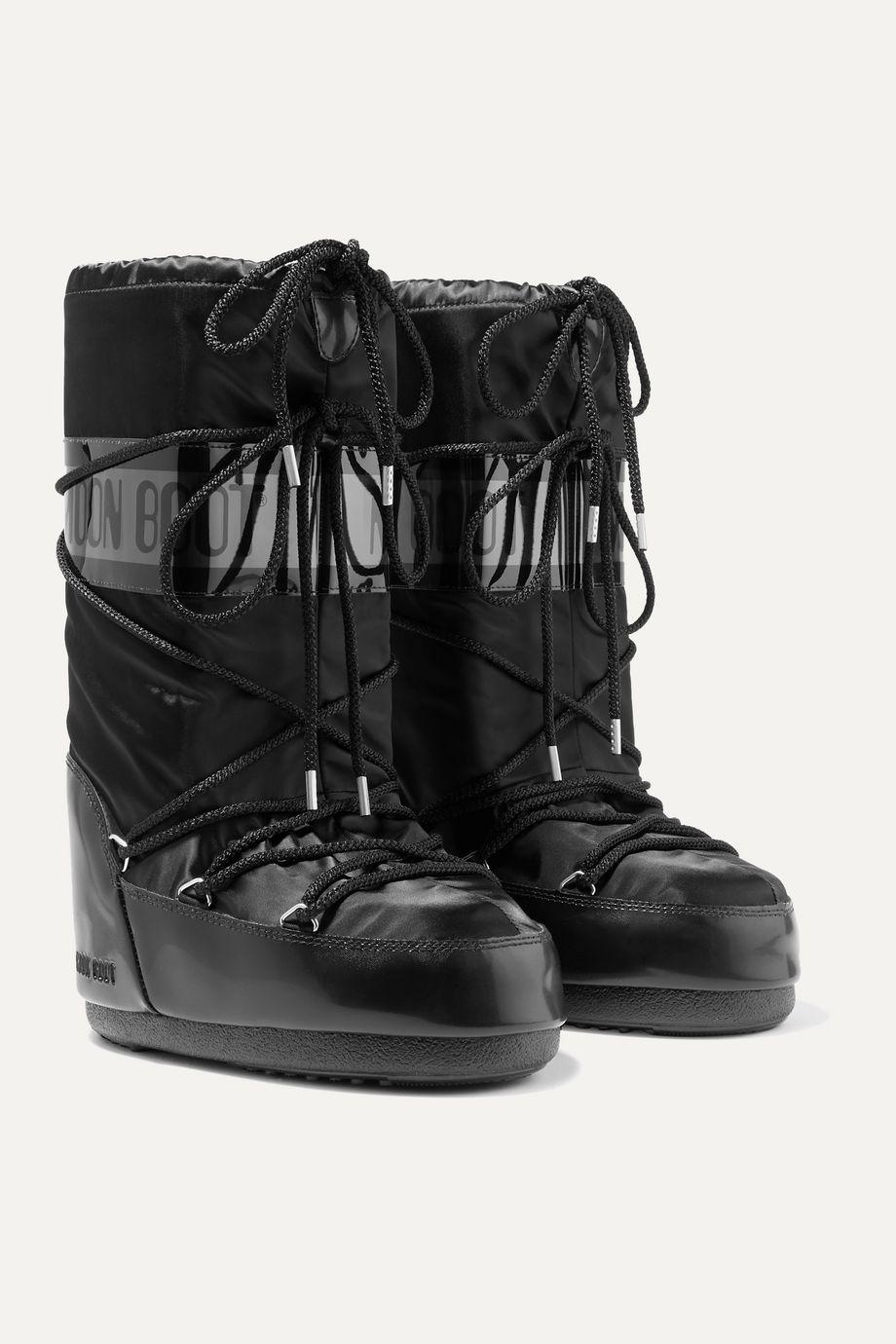 Moon Boot Kids 【20 月龄 - 10 岁】软壳面料漆光面料雪地靴