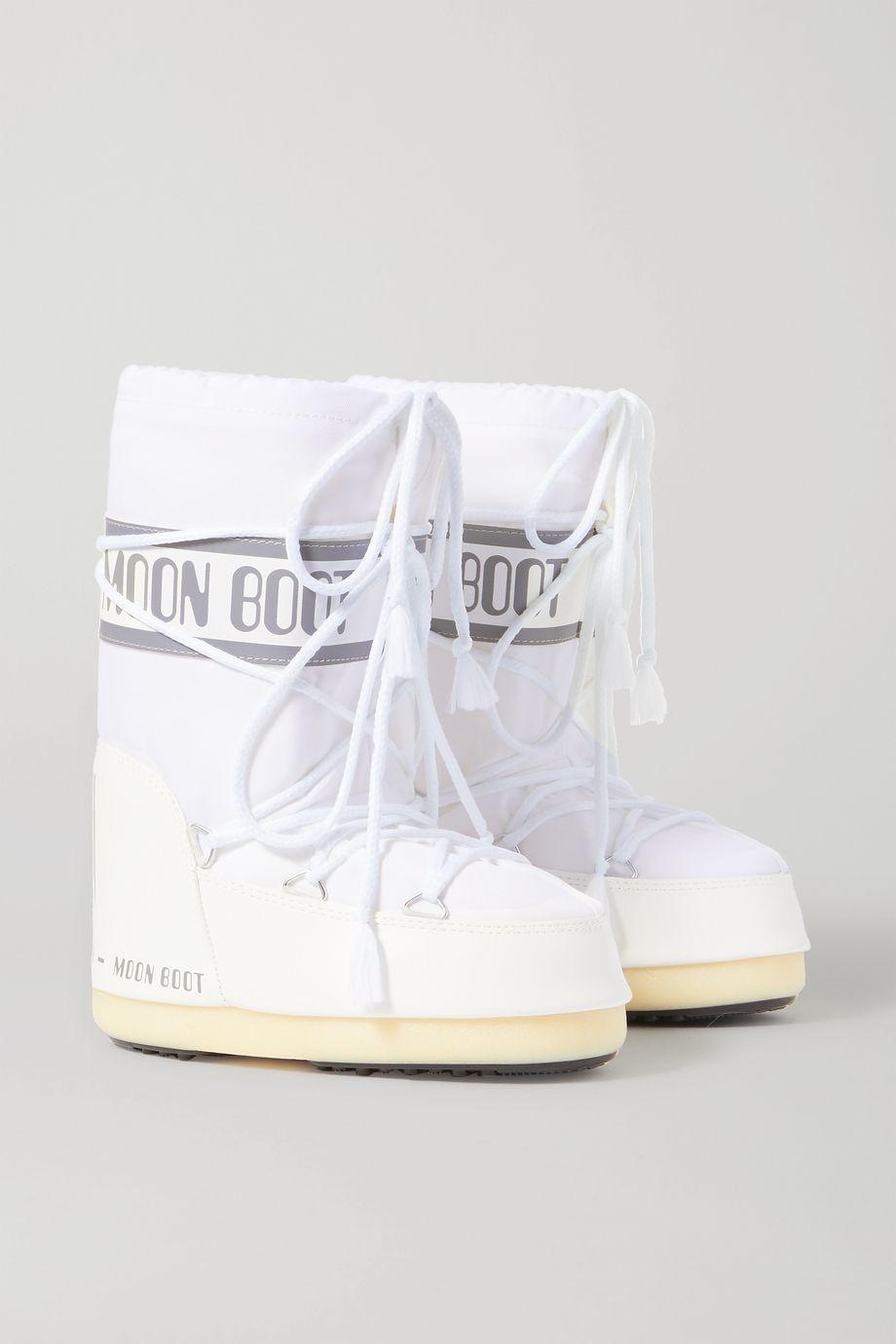 Moon Boot Kids 【4 - 10 岁】软壳面料人造皮革雪地靴