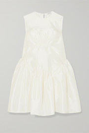 Cecilie Bahnsen Trine gathered taffeta dress