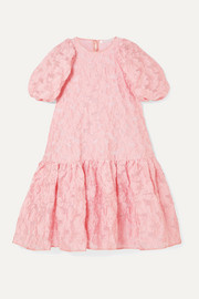 Cecilie Bahnsen Alexa oversized tiered fil coupé organza dress