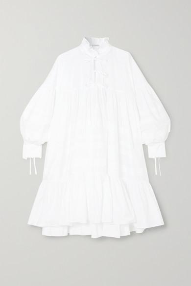 Cecilie Bahnsen MACY OVERSIZED TIERED COTTON-POPLIN DRESS