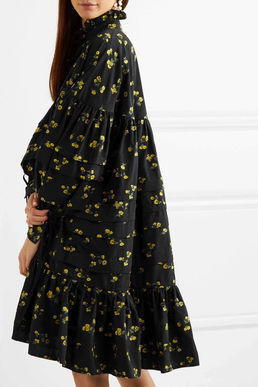 Cecilie Bahnsen Macy oversized pintucked fil coupé poplin dress