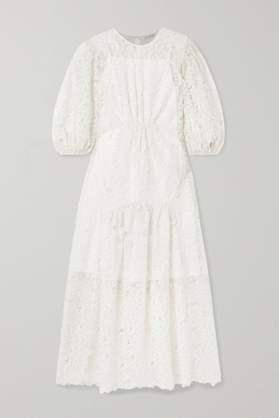 Cecilie Bahnsen Tora tiered embroidered silk-blend organza maxi dress