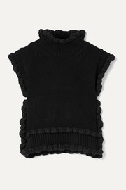 Cecilie Bahnsen Taylor scalloped ribbed wool vest