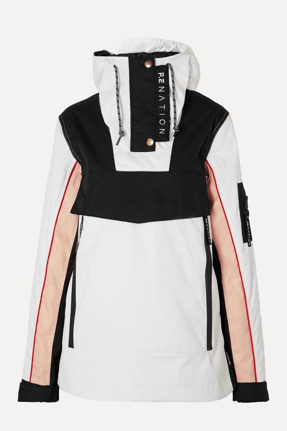 P.E NATION Veste de ski à capuche en tissu technique rembourré imprimé Skyline x DC