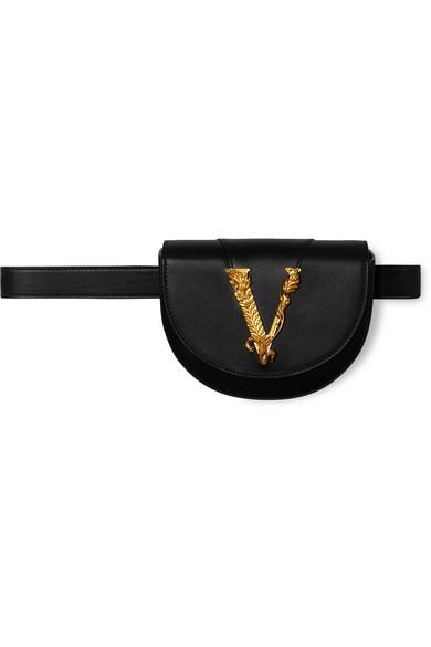 1d37f31c50 Versace Virtus Leather Belt Bag In Black   ModeSens