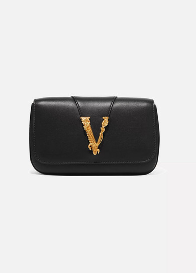 Versace Clutch Virtus leather clutch
