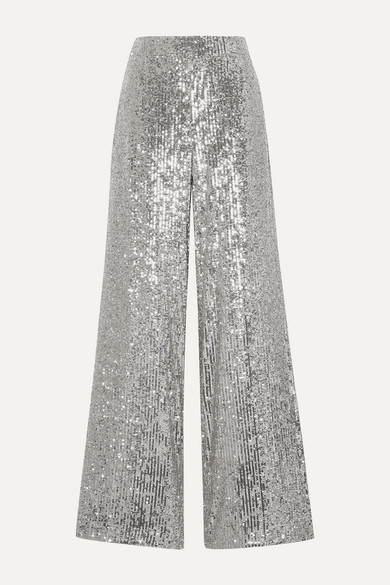 Sequined Tulle Wide Leg Pants by Sem Sem