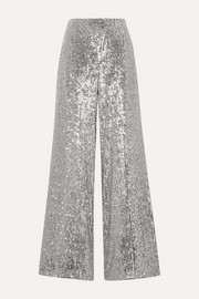 SemSem Sequined tulle wide-leg pants