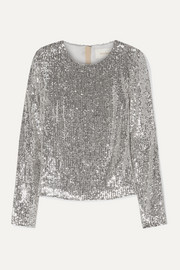 SemSem Sequined tulle top