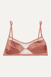 Dion Lee Tulle and stretch-silk satin soft-cup triangle bra