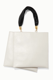 Obi two-tone leather tote