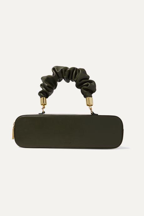 Green Kinchaku mini leather tote | The Sant Zn3sXJ
