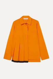 Marni Pleated cotton-poplin shirt