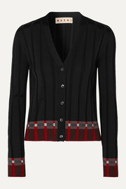 Marni Ribbed wool-blend cardigan